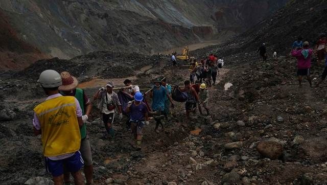 Toll in Myanmar jade mine landslide rises to 162; rescue teams say many feared missing in Hpakant