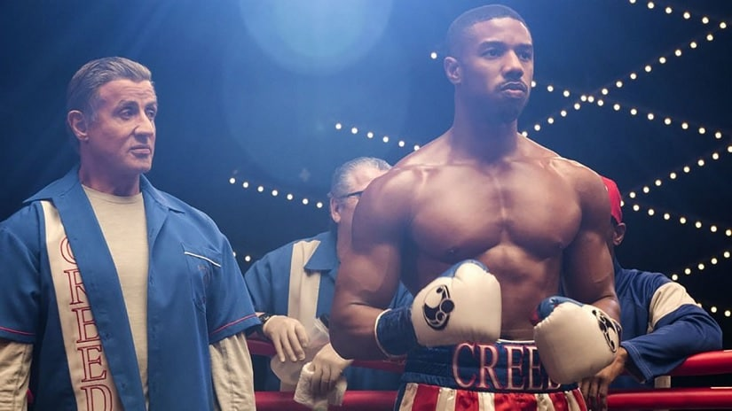 Sylvester Stallone and Michael B Jordan in Creed II. Image via Twitter
