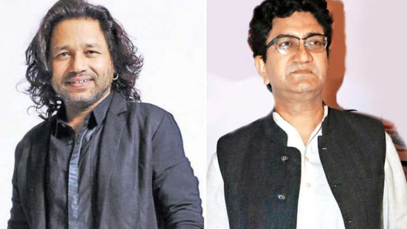Kailash Kher (left) and Prasoon Joshi. Image from Facebook