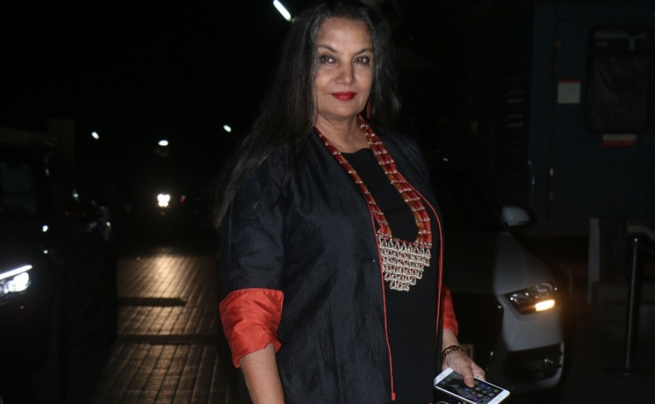 Shabana Azmi attended the special screening of Sui Dhaaga in Mumbai