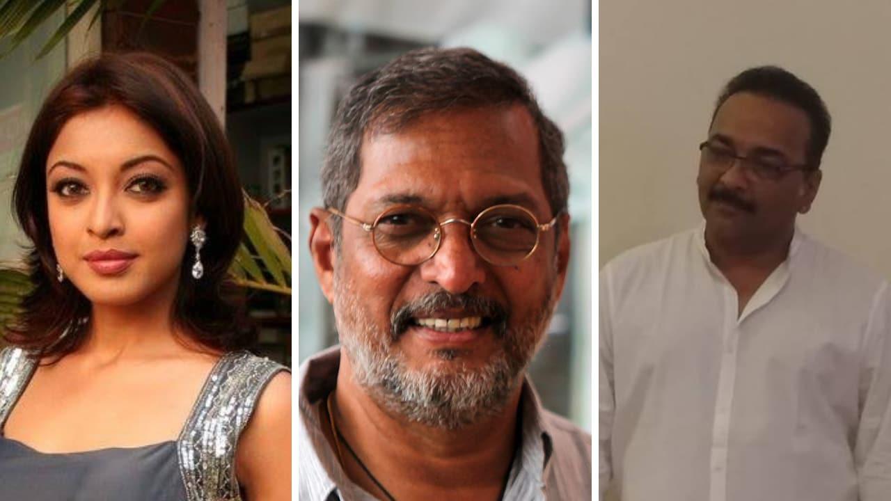 (left-right) Tanushree Dutta, Nana Patekar, Rakesh Sarang. Images from Facebook