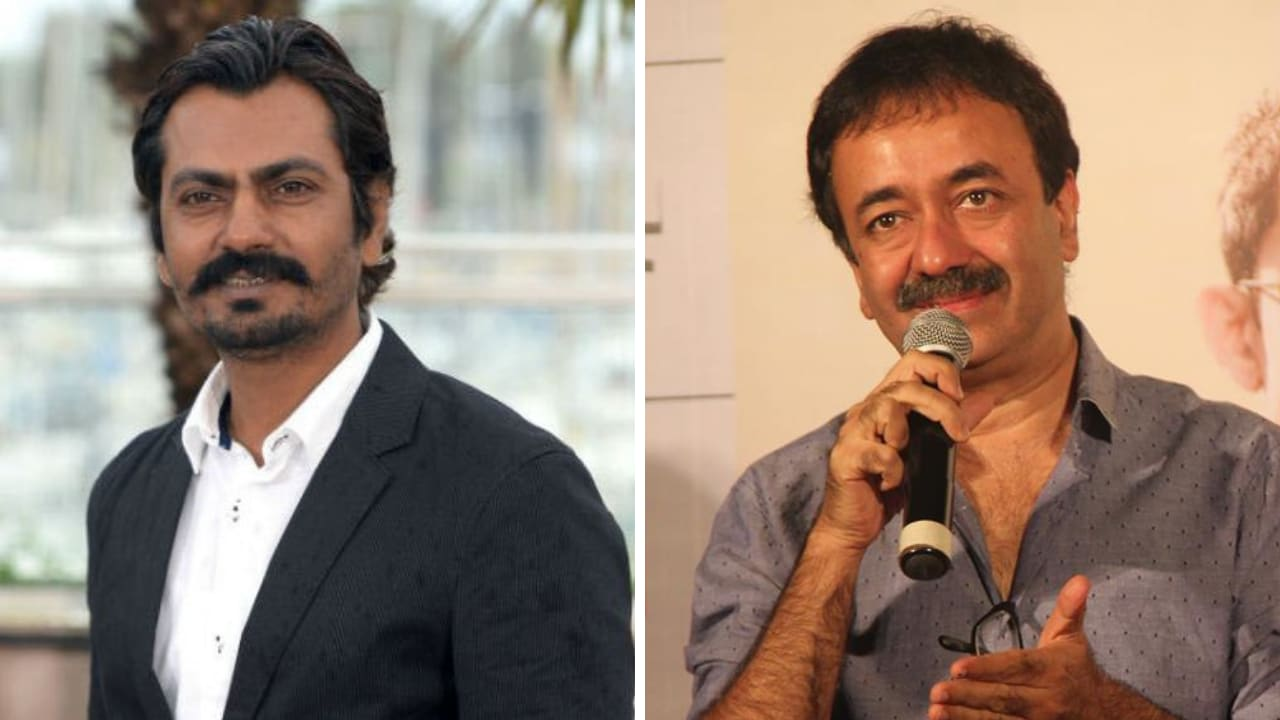 Nawazuddin Siddiqui (left), Rajkumjar Hirani. Images from Facebook