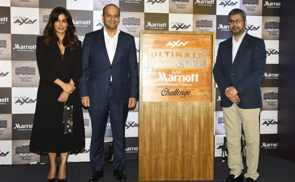 Chitrangda Singh, Neeraj Govil (Area VP- South Asia Marriott International) and Tushar Shah (Business Head, English Cluster SPN) were present at the unveiling of AXN Ultimate Cook-off The Marriott International challenge