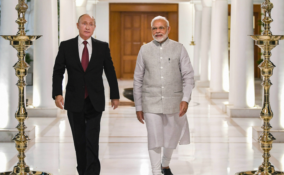 The spotlight will be on the S-400 missile defence system deal as, if signed, it could violate US sanctions under the Countering America's Adversaries Through Sanctions Act (CAATSA) instituted by the US Congress on arms purchases from Russia. PTI