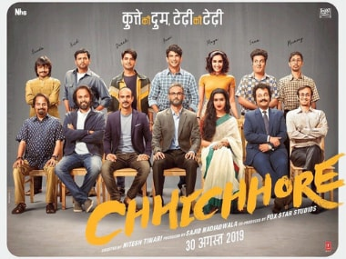 Chhichhore first look finds Shraddha Kapoor, Sushant Singh Rajput, Varun Sharma in double roles