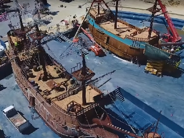 Watch: Thugs of Hindostan behind the scenes video shows the elaborate process behind creating life-size ships