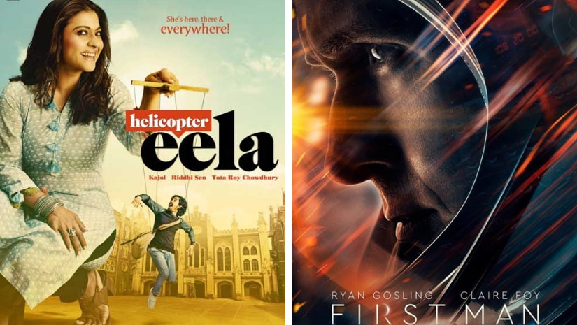 Posters of Helicopter Eela (left) and First Man. Images from Facebook
