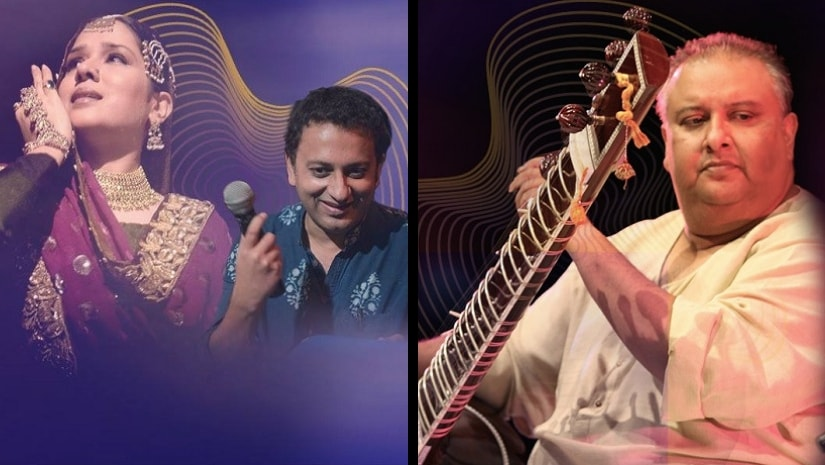 The firs day of the India Music Summit will feature Manjari Chaturvedi in conversation with Saif Mahmood, a performance by sitar maestro Shujaat Khan among others. Images via Facebook/ MTV India Music Summit