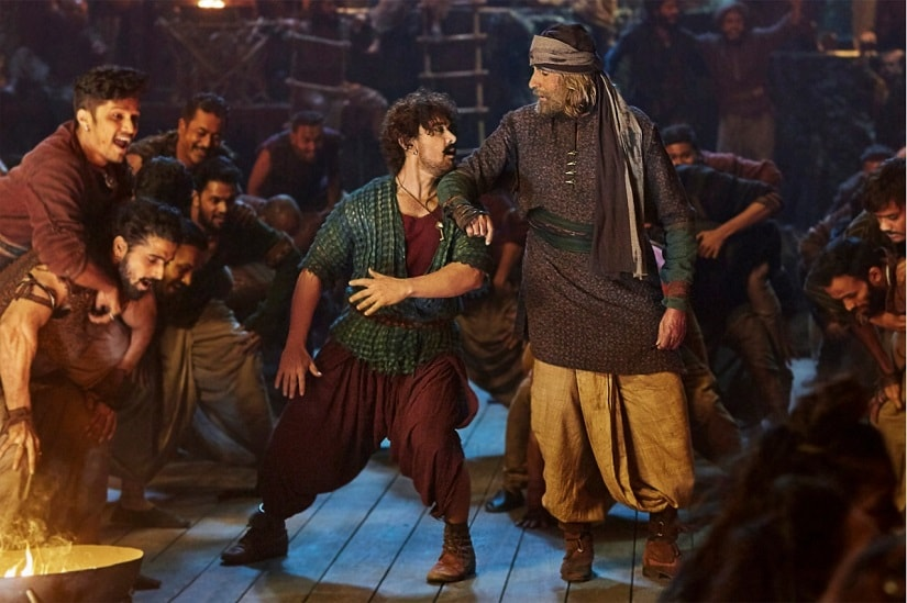 Aaamir Khan and Amitabh Bachchan in a still from Thugs of Hindostan