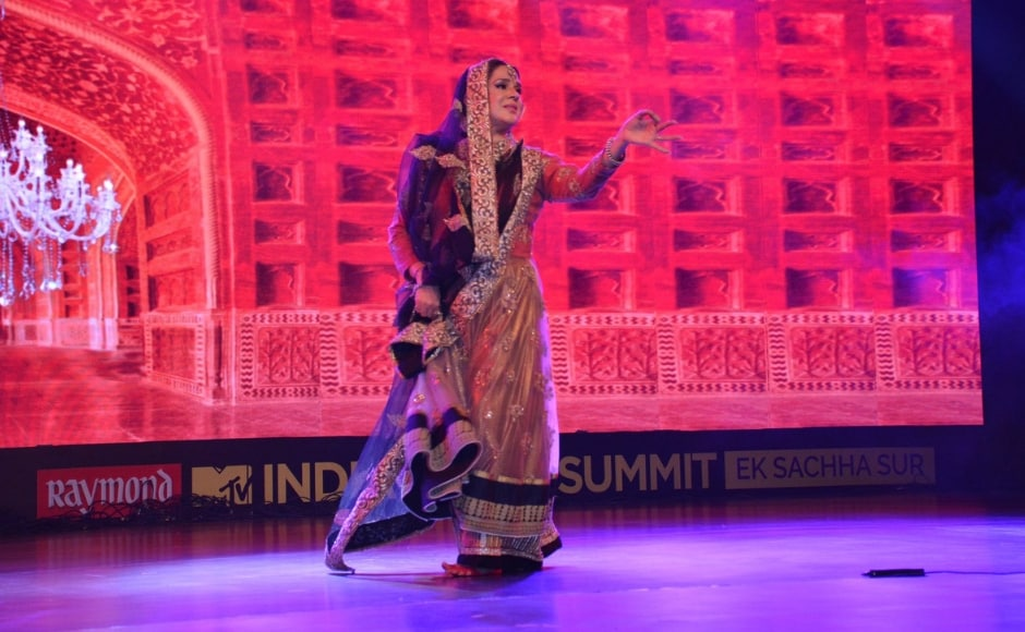 The Darbari Kathak exponent who has formulated The Courtesan Project to preserve this art form also took to the stage with an enthralling performance on day 1 of the India Music Summit. Facebbok/ MTV India Music Summit
