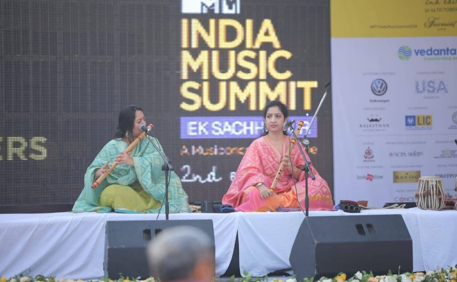 The event also hosted a performance by The Flute Sisters Suchismita and Debopriya Chatterjee in the early hours of the morning at The Fairmont in Jaipur. Facebook/ MTV India Music Summit