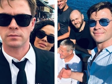 Chris Hemsworth wraps filming of Men in Black spin-off, shares behind-the-scenes photos with co-star Tessa Thompson