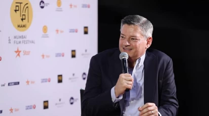 Netflix COO Ted Sarandos at the 20th Jio MAMI Mumbai Film Festival. YouTube screengrab