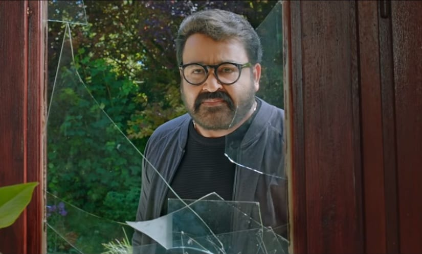 Mohanlal in a still from Drama. YouTube