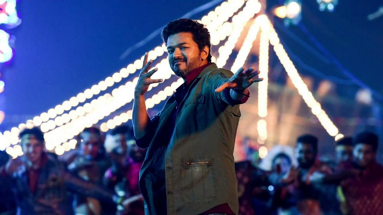 Vijay in a still from Sarkar. YouTube