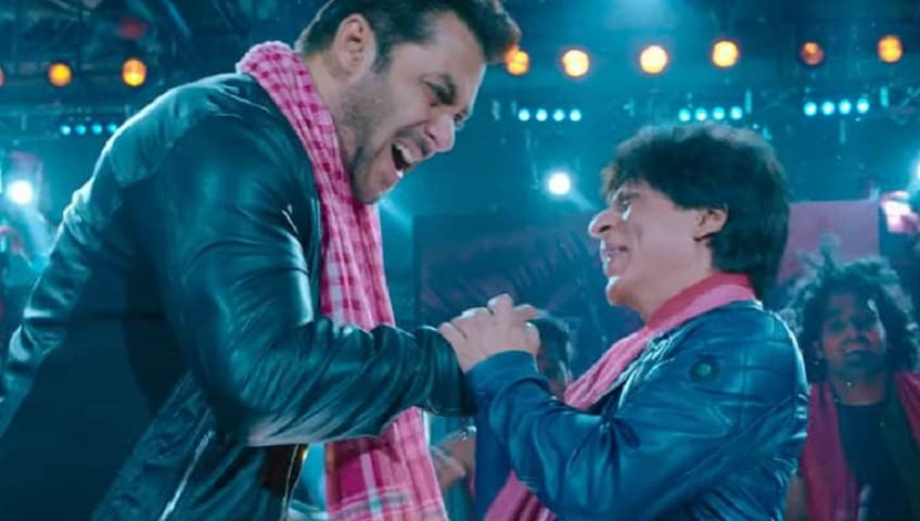 Salman Khan and Shah Rukh Khan in a still from Zero