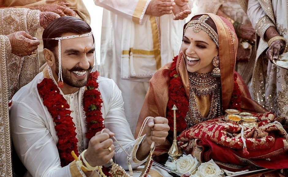 Held amid tight security, the wedding ceremony was attended by the couple's close friends and family. The couple is going to host a reception for their friends from the film industry on 28 November. Image via Twitter/@RanveerOfficial