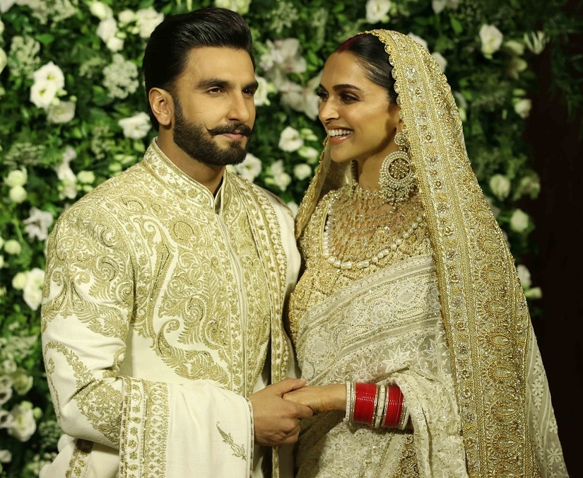 Deepika completed her look with a traditional chooda, sindoor and dazzling bridal jewellery. Image from Firstpost/ Sachin Gokhale