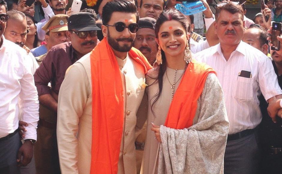Newlyweds Deepika Padukone and Ranveer Singh visited the Siddhivinayak Temple. Sachin Gokhale