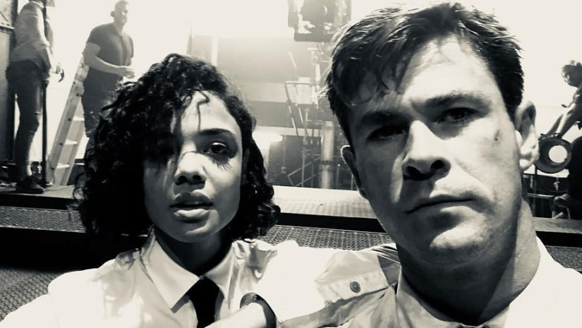 Tessa Thompson and Chris Hemsworth. Image from Facebook