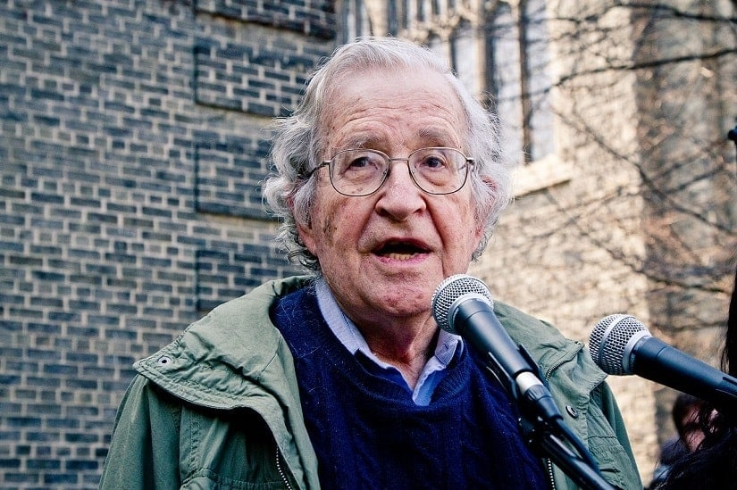 Noam Chomsky speaking at an Occupy protest in Toronto in 2011. Image via Wikimedia Commons