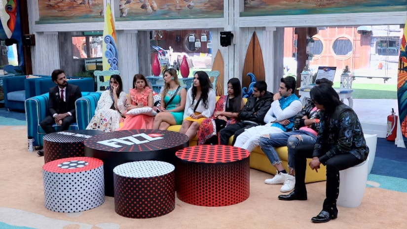Contestants in the Bigg Boss 12 house during the kalkothri nominations