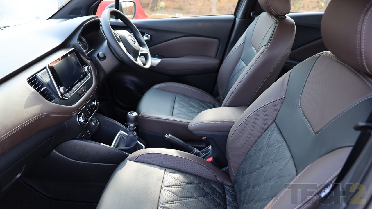 The interiors too come in two-tone colour combination and are subtle. Also, the seats have leather upholstery.