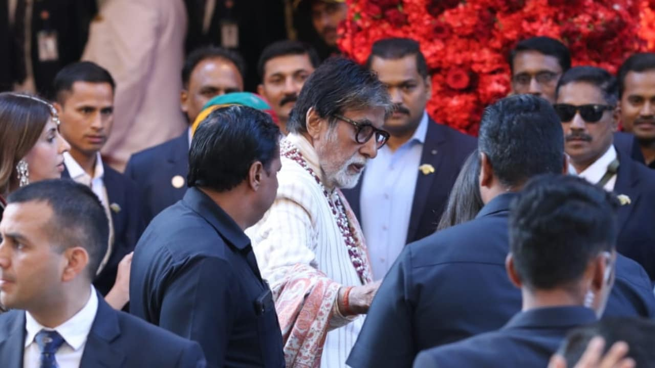 Amitabh Bachchan spotted at Isha Ambani and Anand Piramal's wedding. Firstpost/Sachin Gokhale