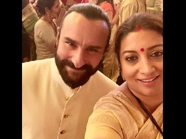 Smriti Irani dedicates post to Saif Ali Khan, thanks him for advice on 'surviving in the chaos' of Mumbai