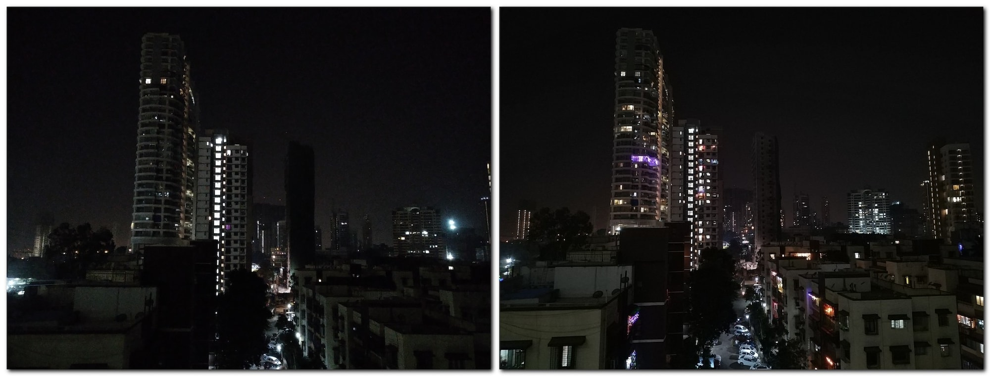 Night portrait comparison - Asus Zenfone Max Pro M2 (L) Redmi Note 6 Pro (R).