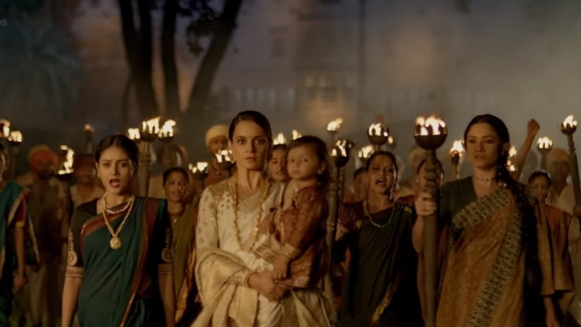 Still from Manikarnika: The Queen of Jhansi trailer. YouTube screengrab