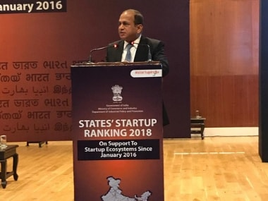 DIPP secretary Ramesh Abhishek at the meeting in Delhi. Image courtesy: Twitter/@DIPPGOI