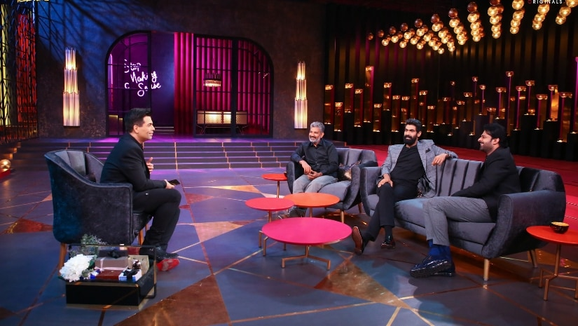Koffee with Karan: From personal to profession,Baahubali trio get candid on couch