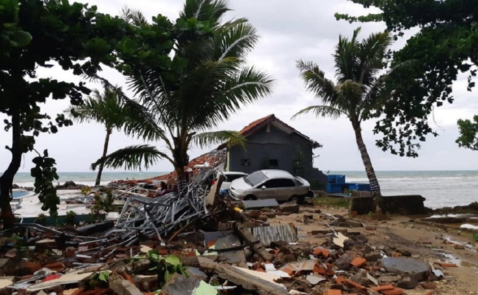 Indonesian media showed a smartphone video of a powerful wave hitting Palu, with people screaming and running in fear. The water smashed into buildings and a large mosque that collapsed under the force. Reuters
