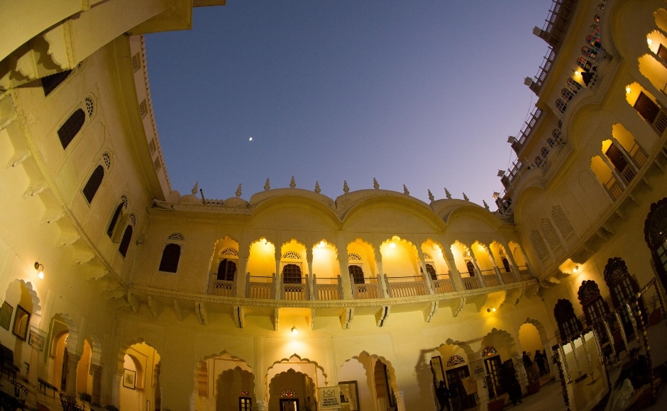 The magic of Alsisar Mahal as the sun goes down and the lights go up