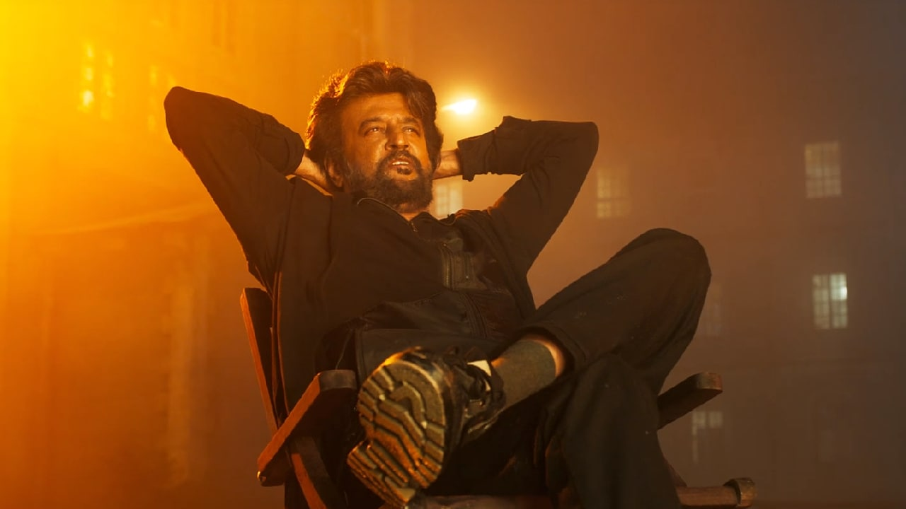 Rajinikanth in a still from Petta. YouTube
