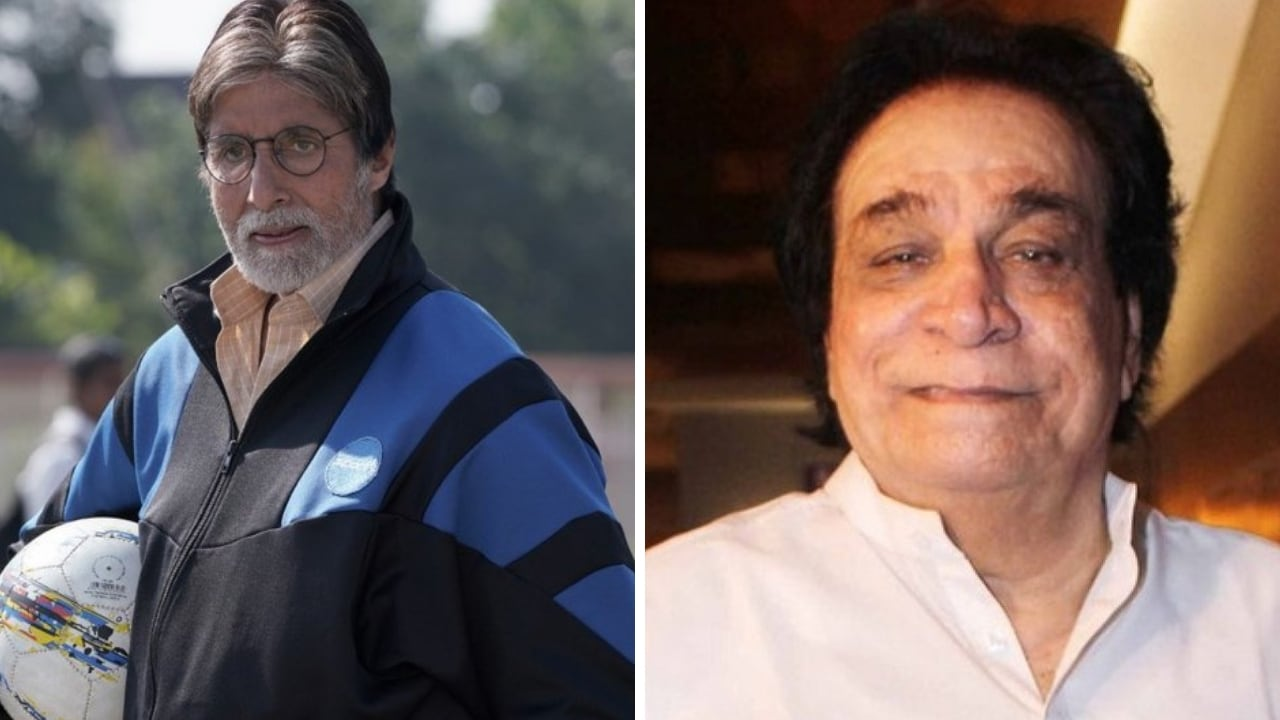 Amitabh Bachchan (left) and Kader Khan. Images from Facebook