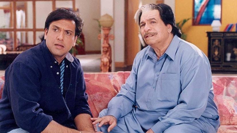Govinda (left) and Kader Khan in Dulhe Raja