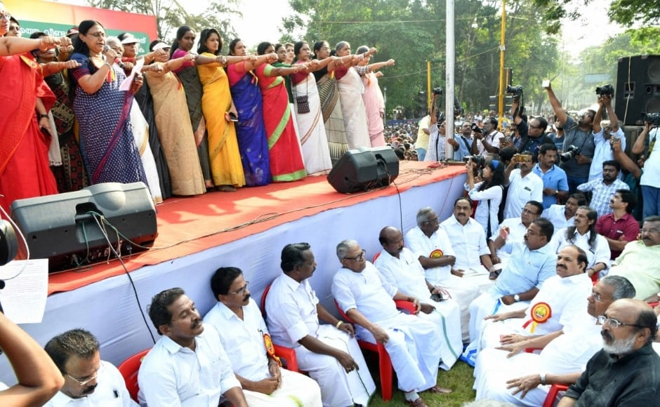 Karat also lashed out at the saffron party, saying it was using women for its