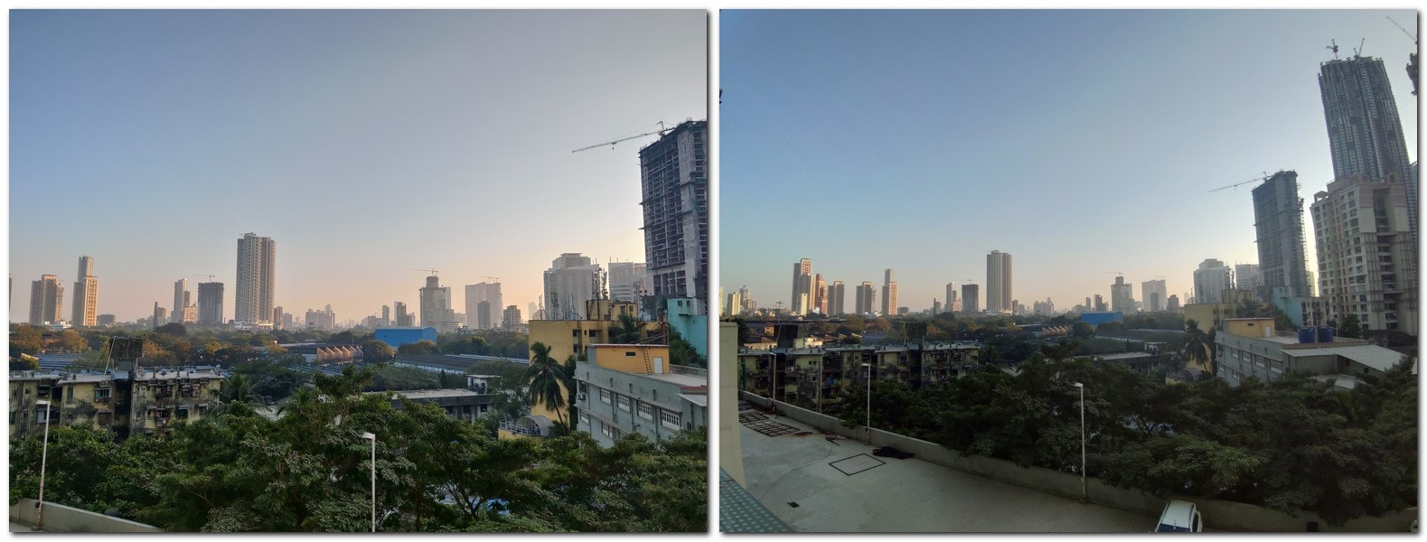 Normal photo (L) vs Wide Angle photo (R)