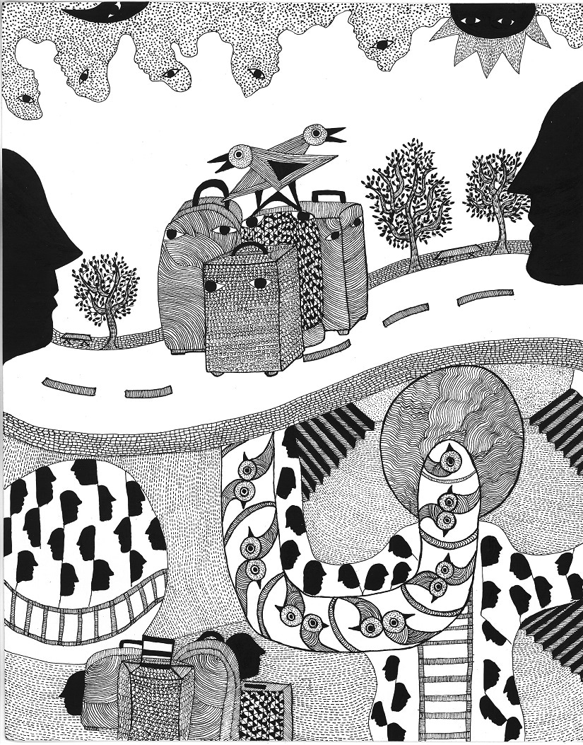 Illustration by Roshni Vyam in Over and Underground in Paris and Mumbai. Courtesy: Westland Publications