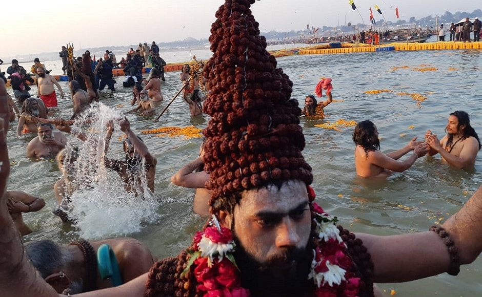 The Hindu culture believes that bathing in the waters of the Ganges absolves people of sins; and bathing at the time of the Kumbh Mela, brings salvation from the cycle of life and death. Saurabh Sharma/101 Reporters