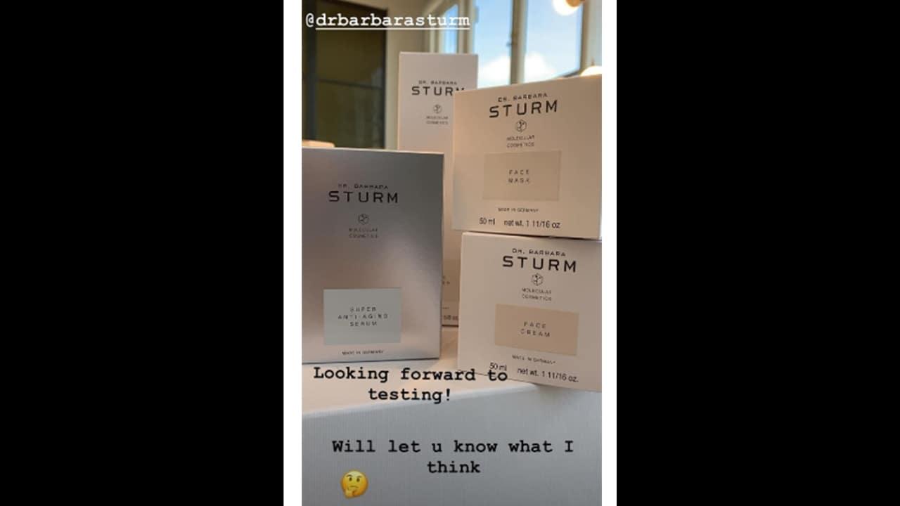 Victoria Beckham's Instagram story. Instagram
