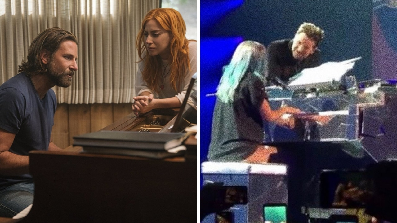 Bradley Cooper joins Lady Gaga in Las Vegas show for surprise duet on Shallow from A Star Is Born