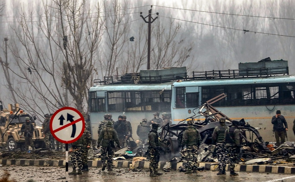 Pulwama terror attack: At least 40 CRPF personnel killed in suicide bomb attack in Jammu and Kashmir