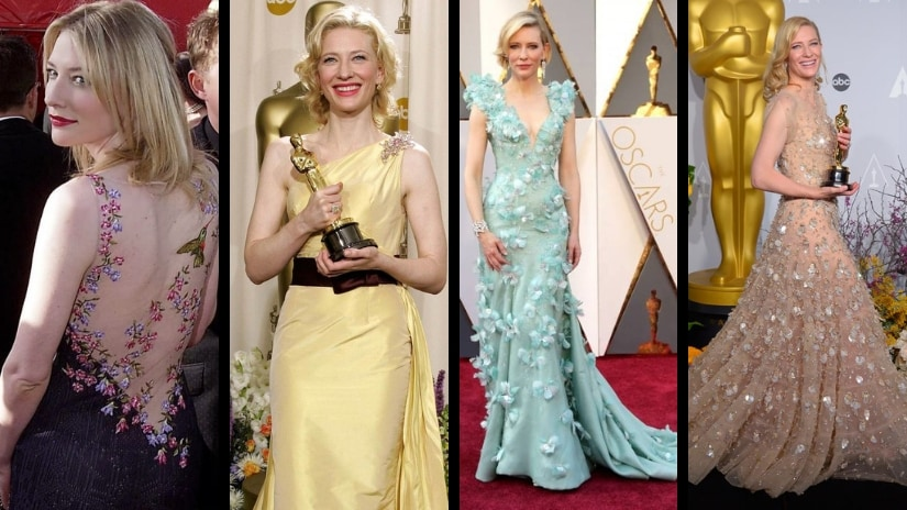 Cate Blanchett on the Oscars red carpet through the years