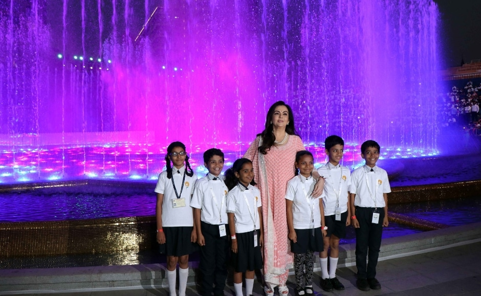 Nita Ambani also invited nearly 2,000 underprivileged children from various NGOs supported by Reliance Foundation to make them experience a Musical Fountain Show at the square. Photo: Sachin Gokhale
