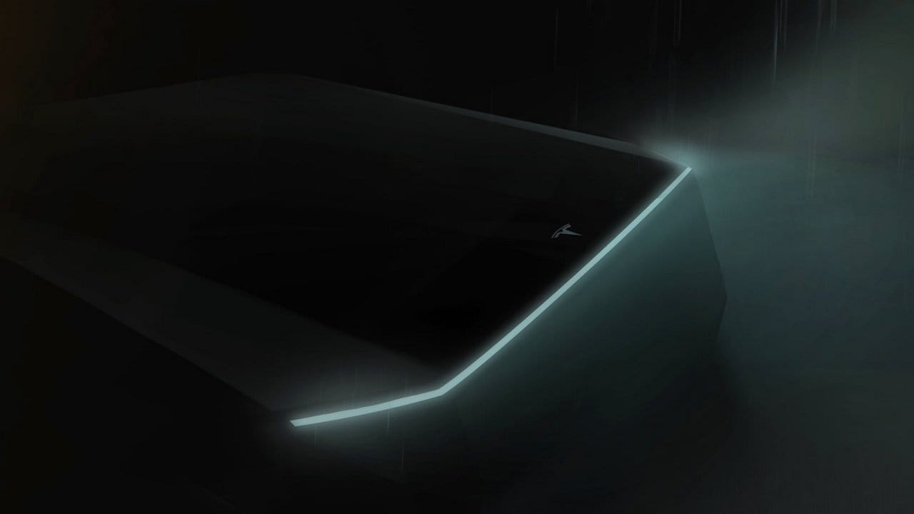 Teslas cyberpunk pickup truck teased by Elon Musk on Twitter