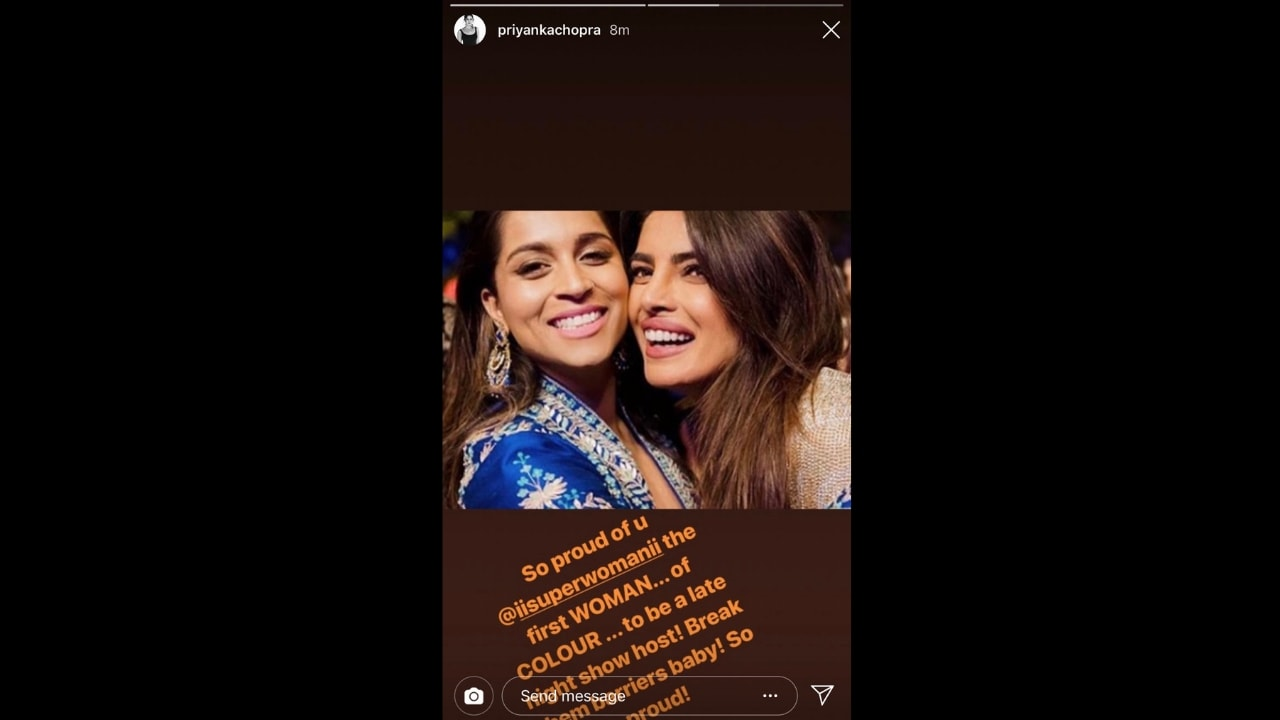 Priyanka Chopra congratulates Lilly Singh on becoming NBCs new late-night show host Break them barriers baby