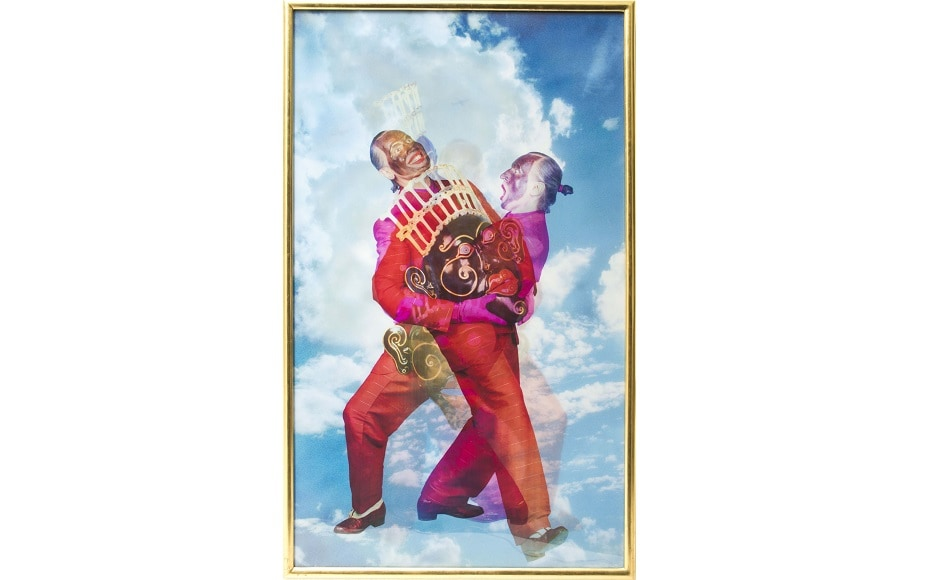 Luigi Ontani's '<em>Ossimoro Sorvolante</em>', 2006 (Lenticular, superimposed photographic prints). Donated to the Collezione Farnesina by Luigi Ontani. All image credits to Dr Bhau Daji Lad. All works from the Collezione Farnesina, Rome.